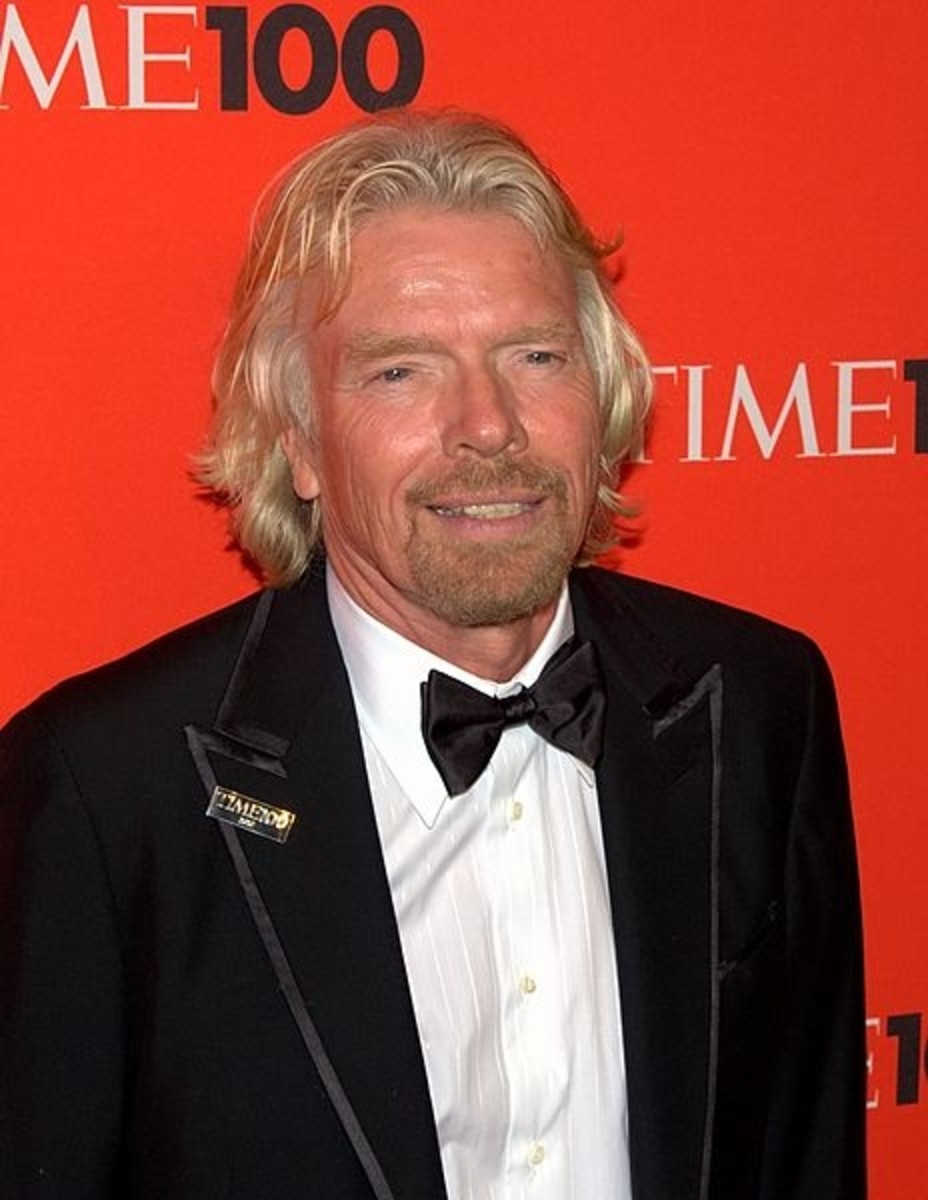 Industrialist Richard Branson, May 3, 2010. VirginMobile one of 400 companies in his Virgin Group.