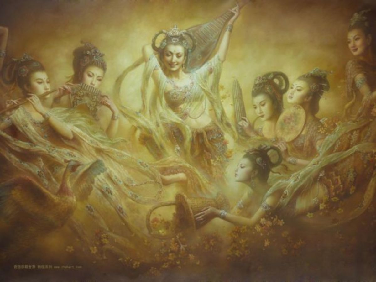 Group of Oriental Angels