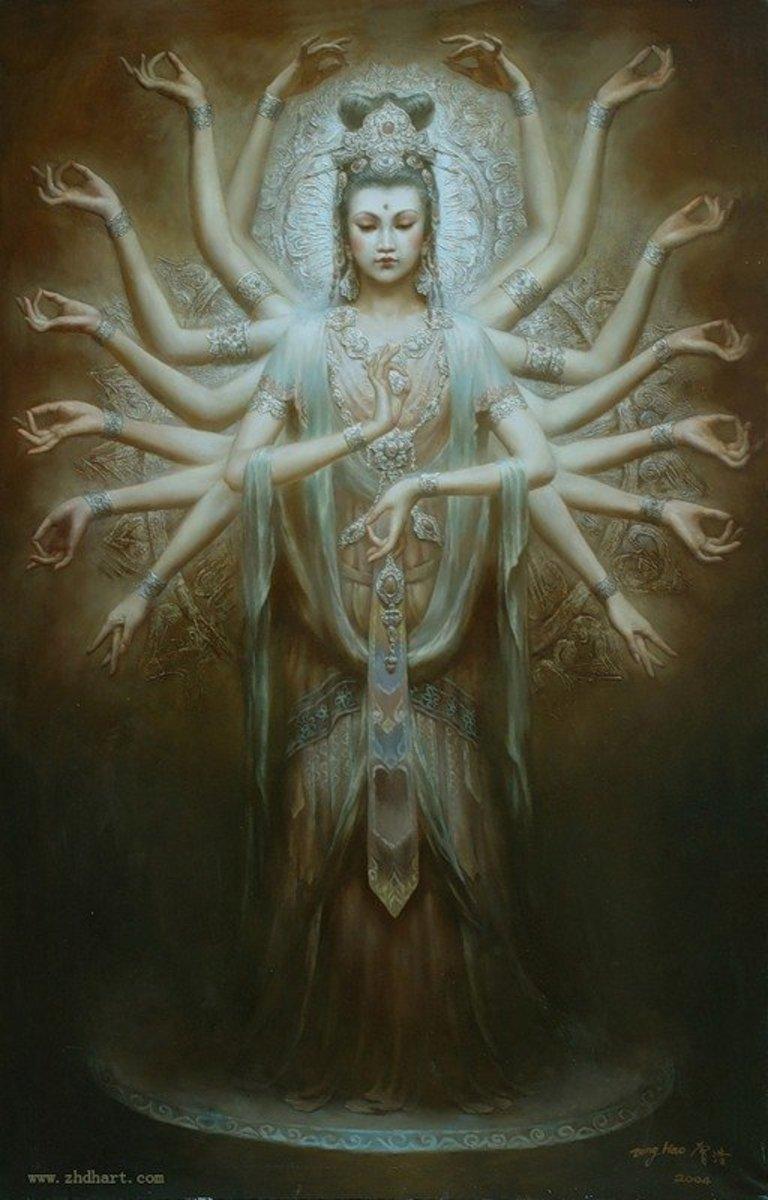 Thousand Arms Kuan Yin Bodhisattva