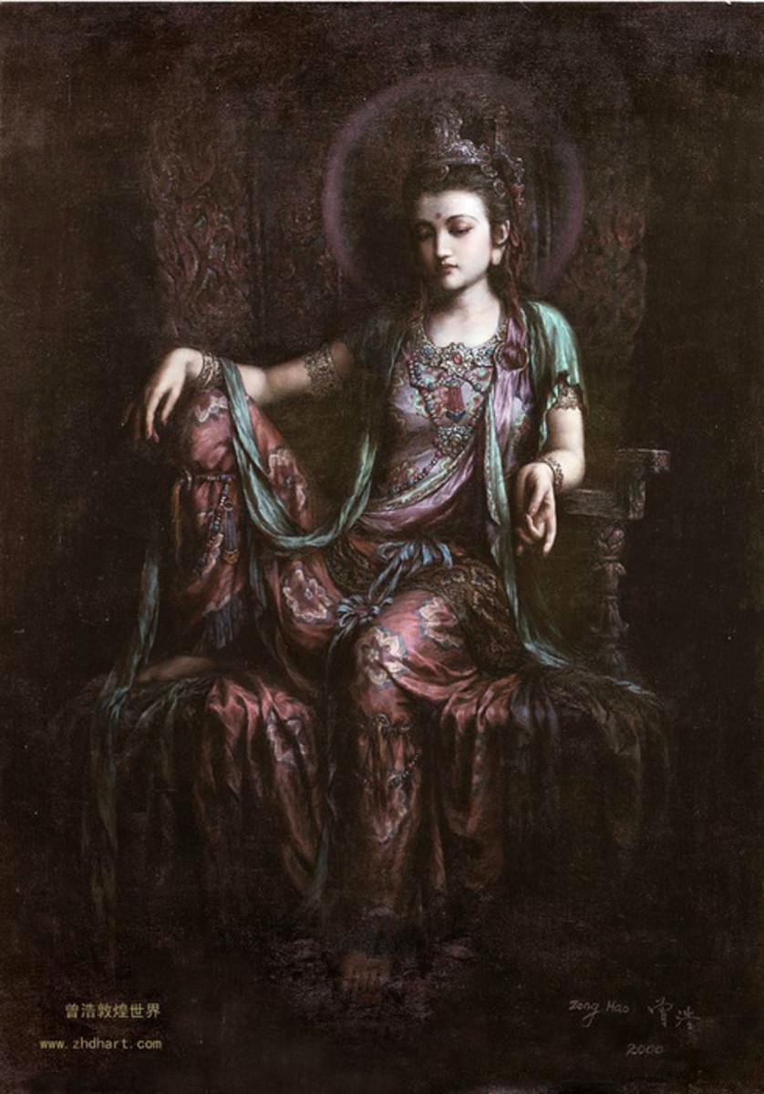 Seated Kuan Yin Bodhisattva