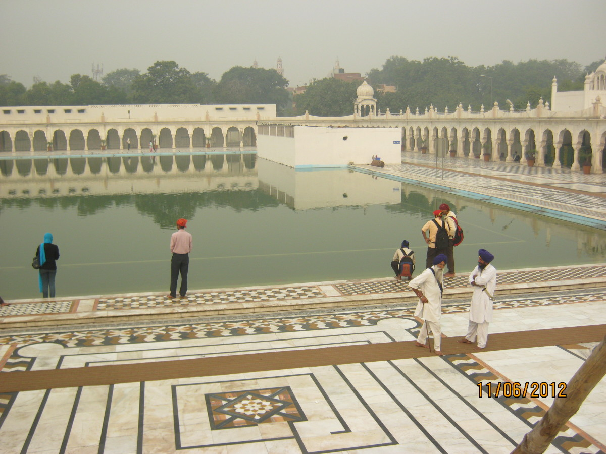 The Sarovar (Pond), which was built on the site of the well which was the source of water during the small pox & cholera epidemic in 1664 AD.