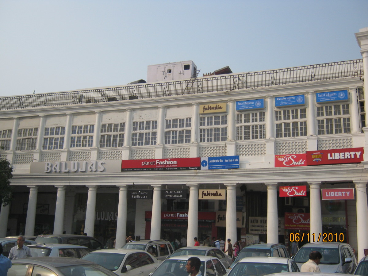 connaught place on a busy weekday