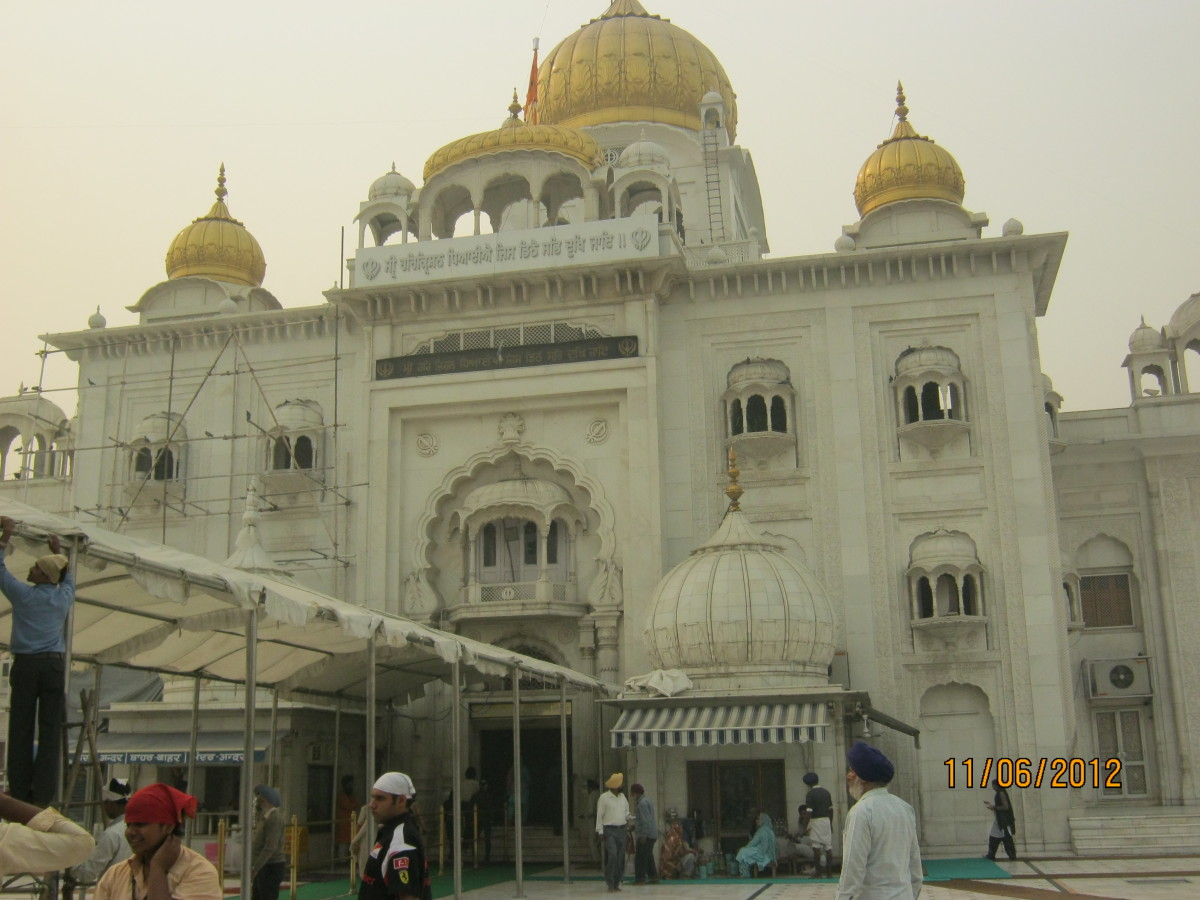 The main Gurudwara (sikh temple) building