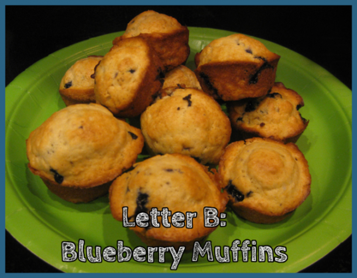 Letter B Blueberry Muffins