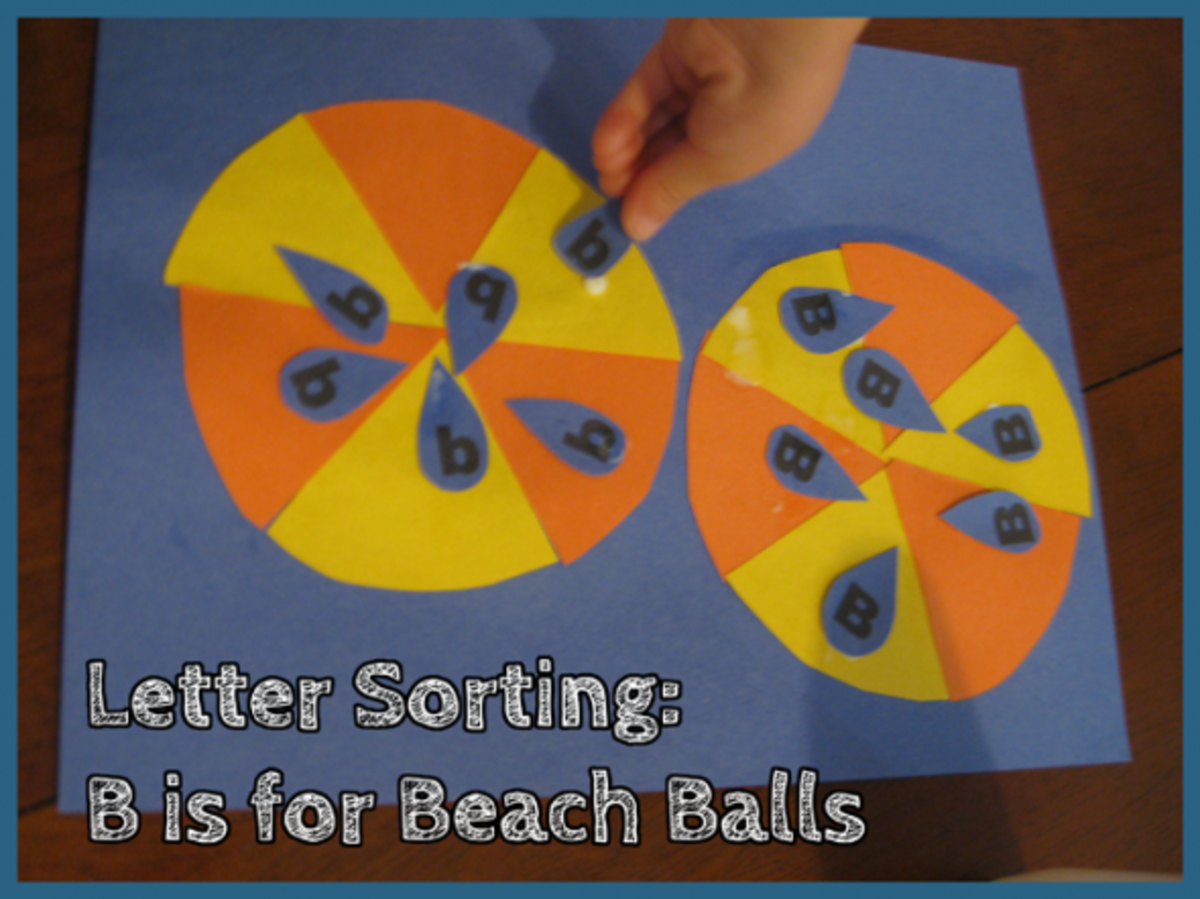 Letter Sorting B is for Beach Ball