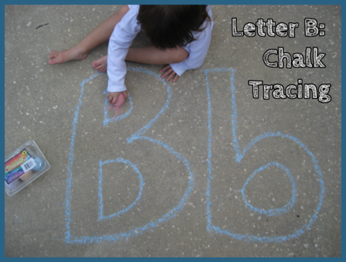Letter B Chalk Tracing