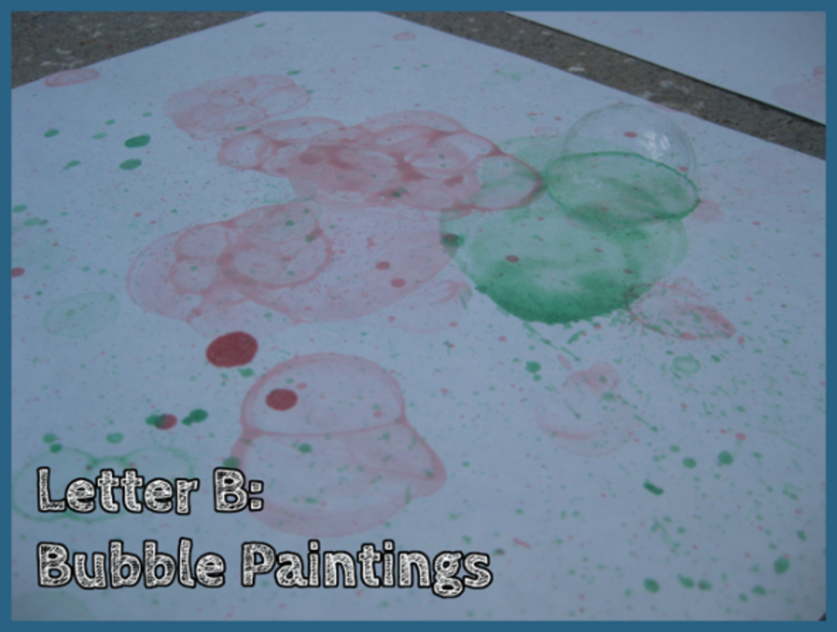 Letter B Bubble Paintings