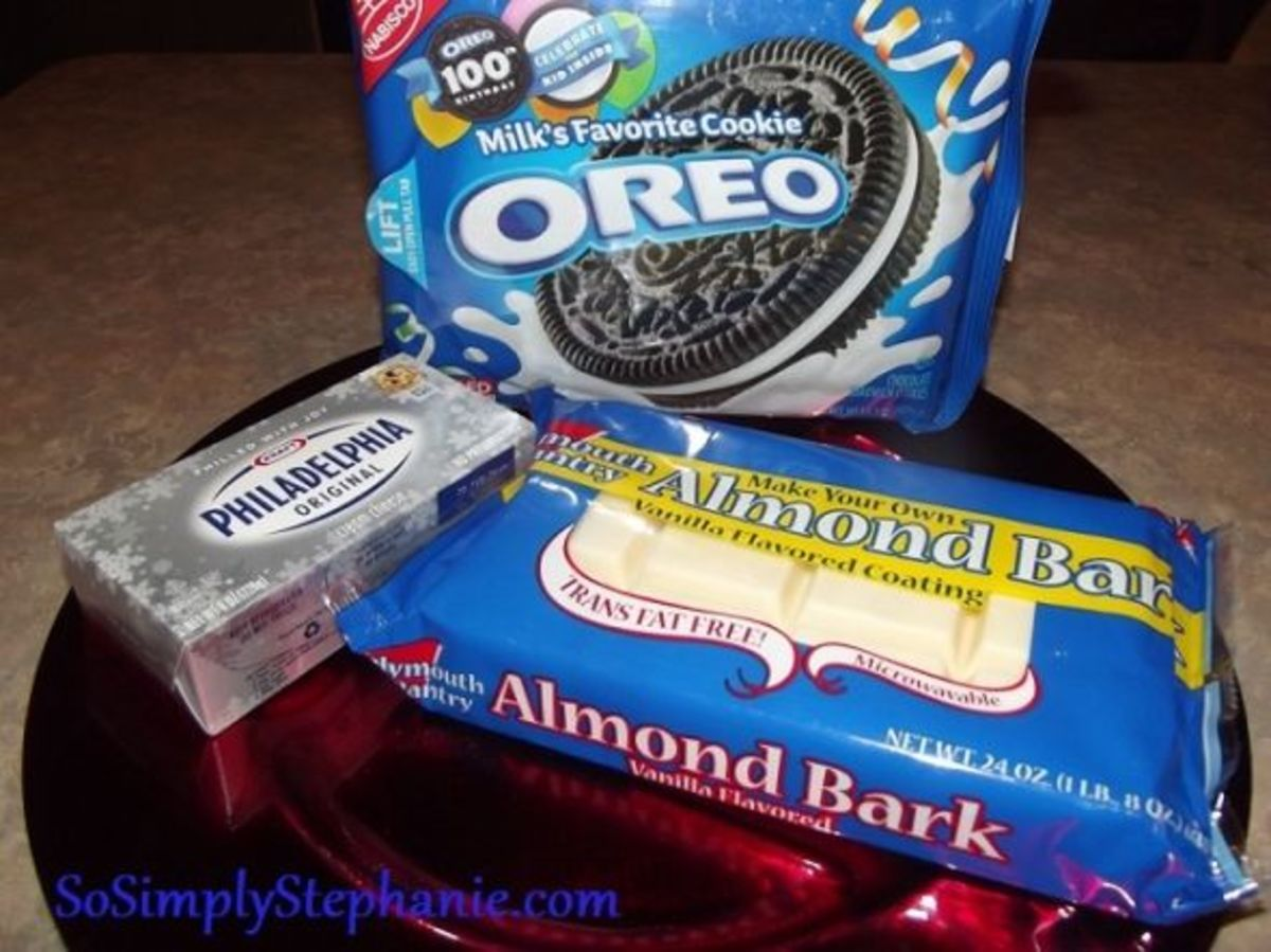 Ingredients for Oreo Balls
