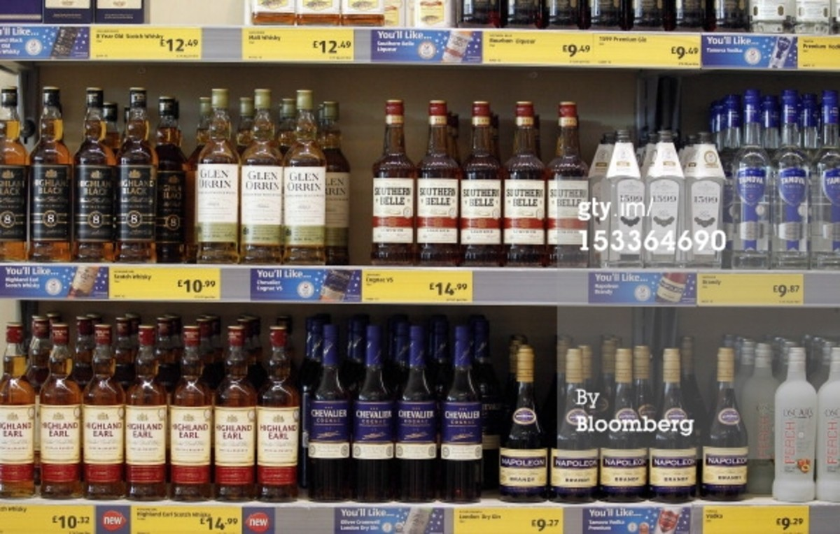Aldi spirits section.