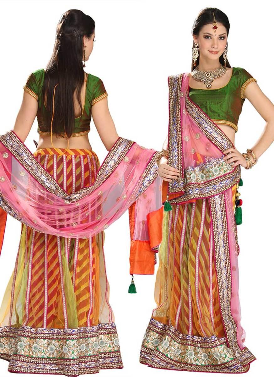 Classic Multicolored Net Lehenga Choli