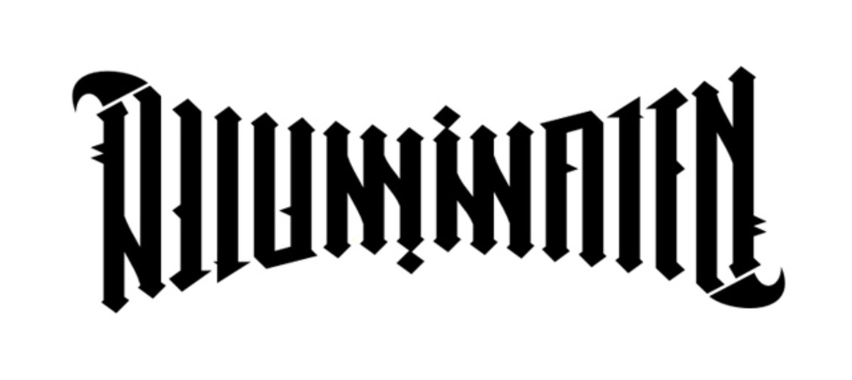 "This ambigram of ""illuminatum"" is based on the one in Dan Brown's book, Angels and Demons."