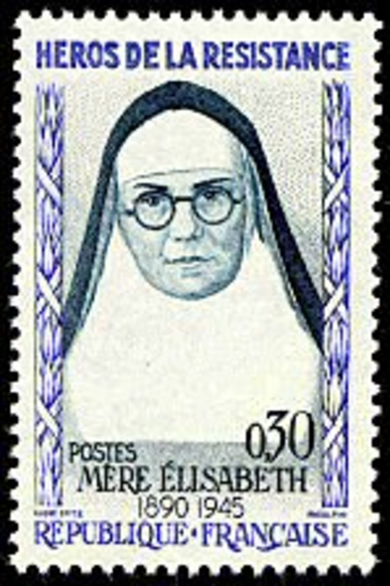 Commemorative stamp isssued in 1961 by the French Postal Service