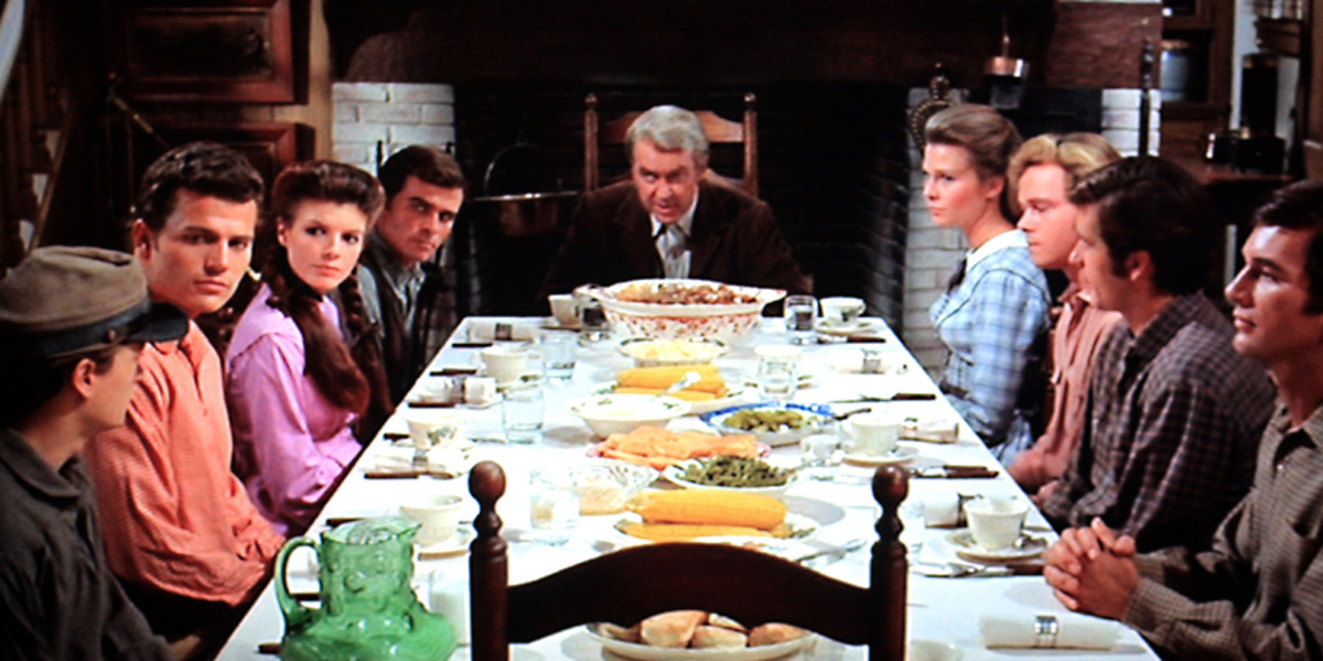 Charlie Anderson and the whole family united - as they always are - for the evening meal