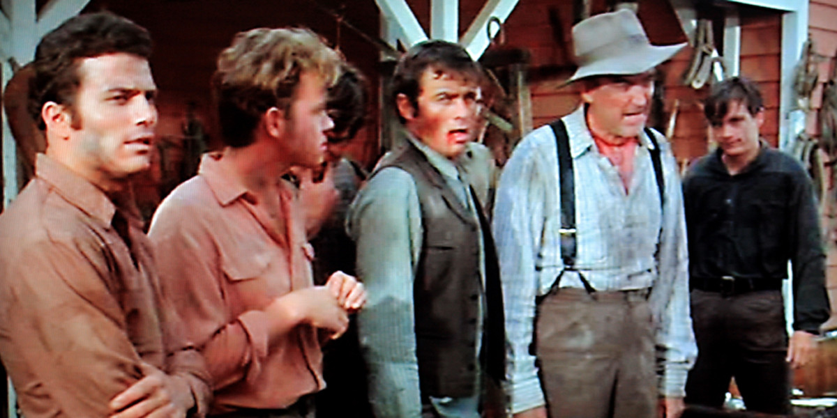The fight between the Andersons and the Virginia government officials who come to take their horses is one of the more light-hearted, almost slapstick sequences
