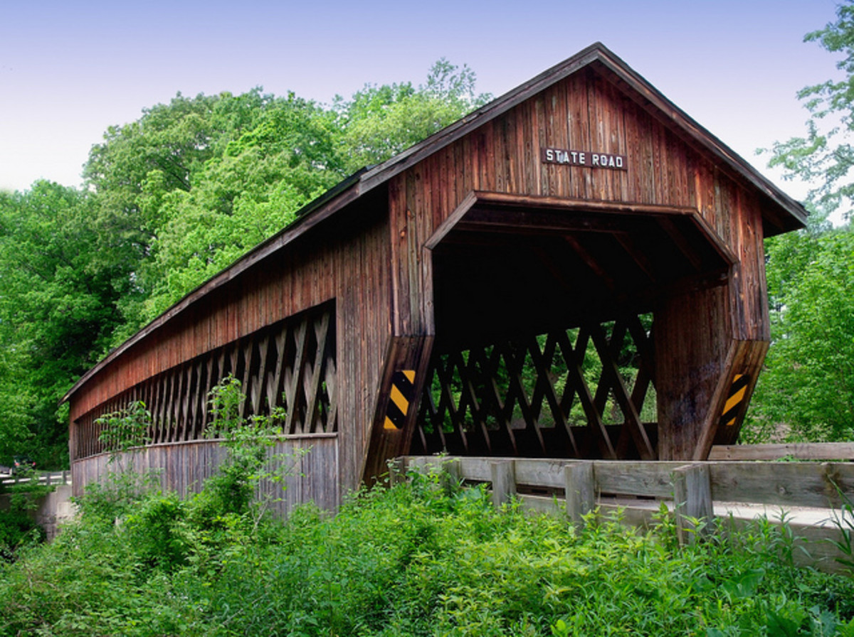 State Road covered bridge in Ashtabula County.