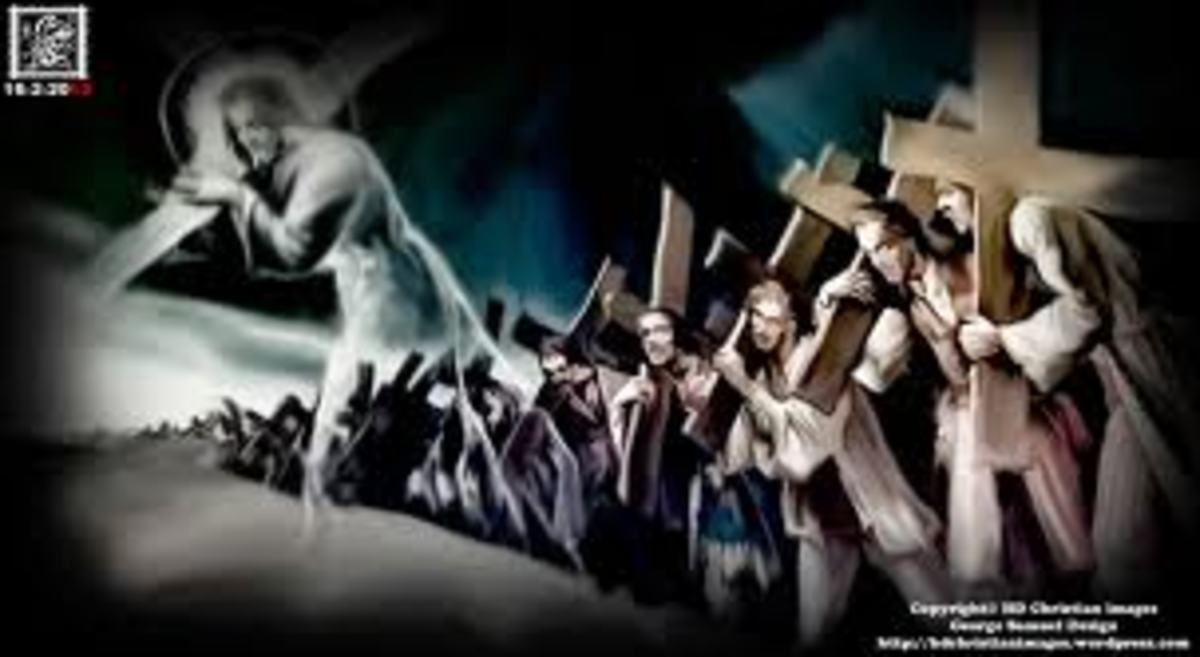 """Mat 16:24 """"Then Jesus said to His disciples, 'If anyone wishes to come after Me, he must deny himself, and take up his cross and follow Me."""""""