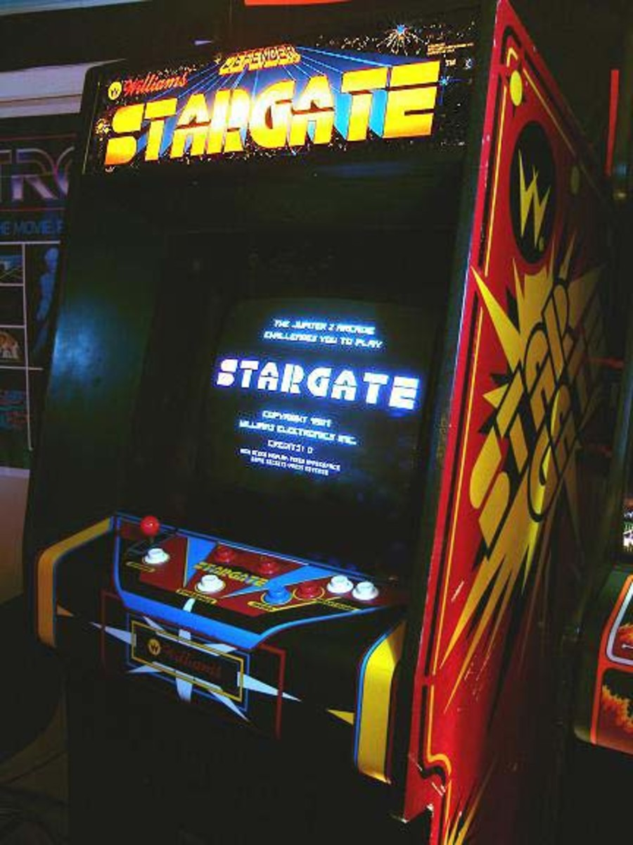 Stargate (Defender II) Arcade Cabinet