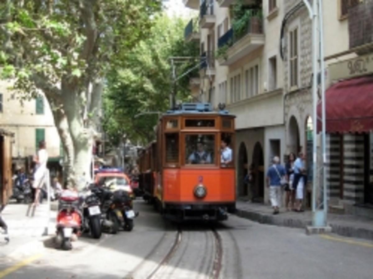 Tramvia in the La Plaza de Soller