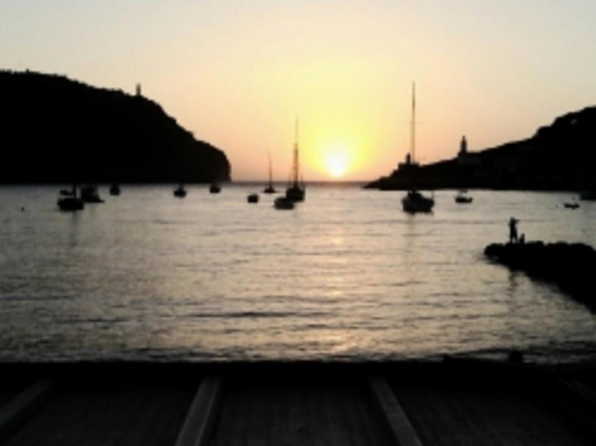 Sunset in Puerto Soller