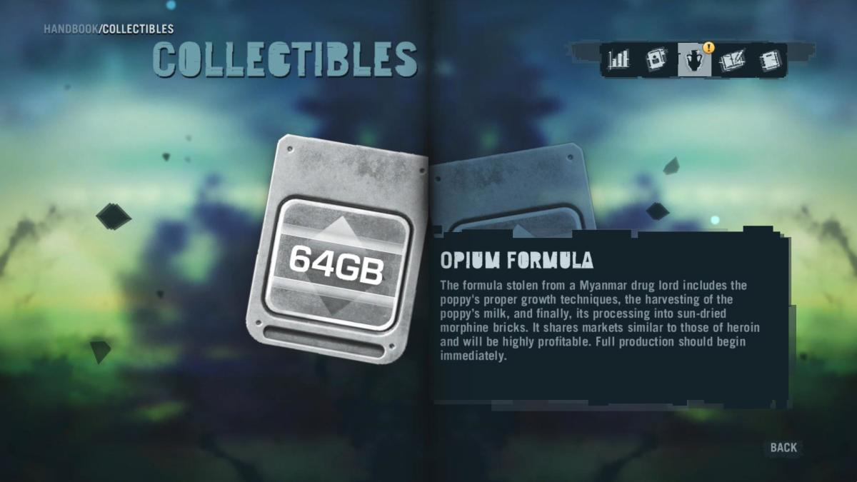 Far Cry 3 Collectibles - Memory to Spare achievement: Memory Card 18.