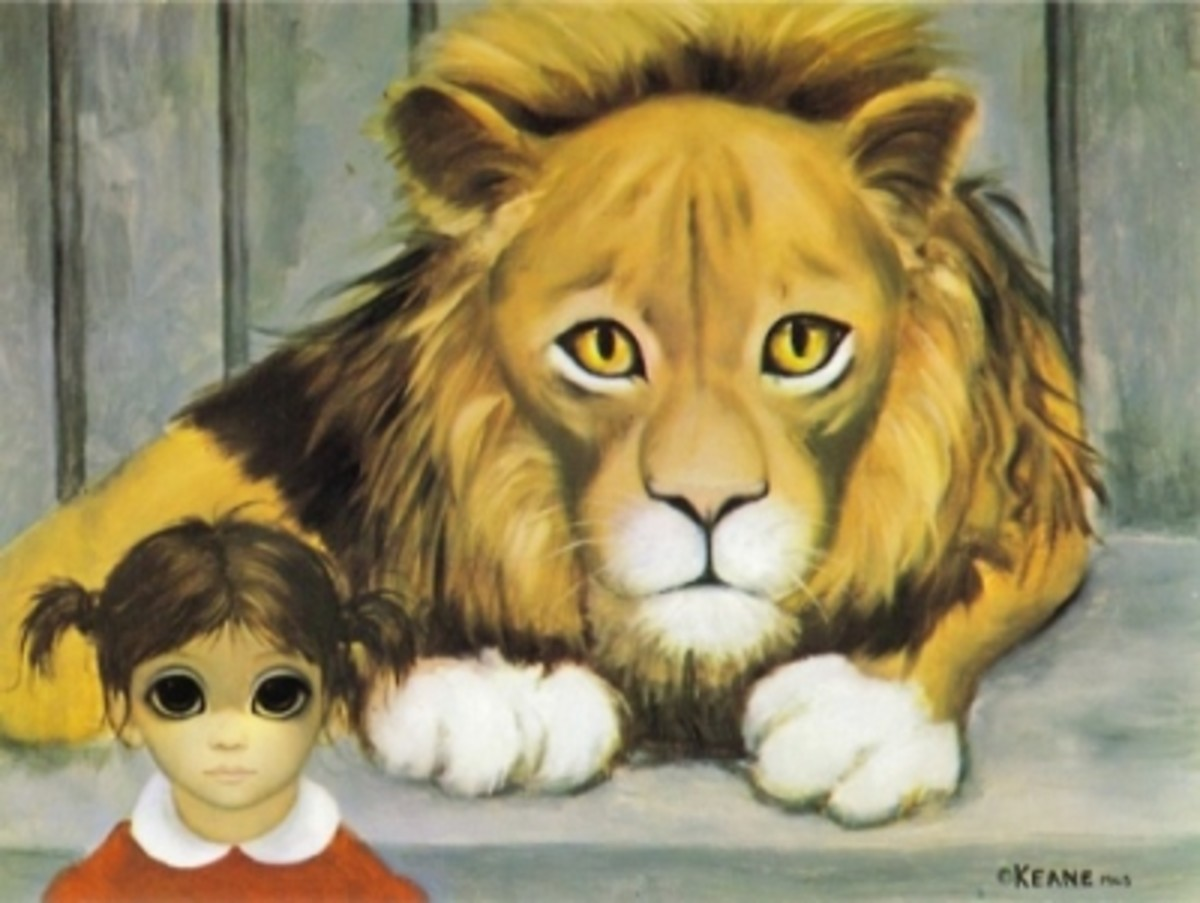 Lion and Child 1964 Keane