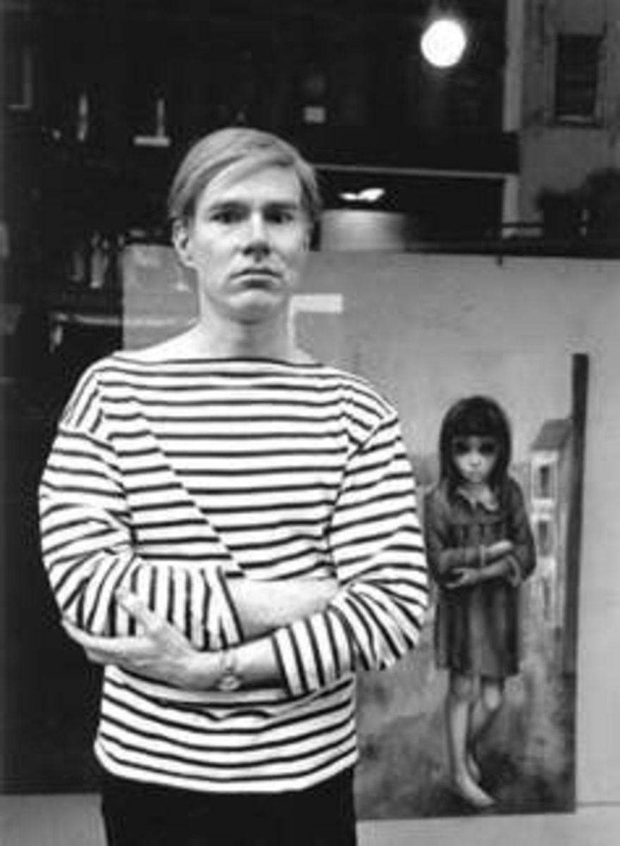 Andy Warhol Margaret Keane painting