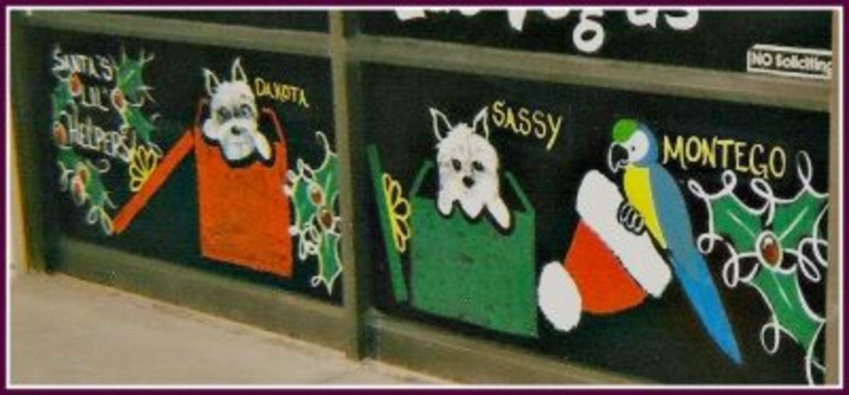 Personalized Window Painting With Pets