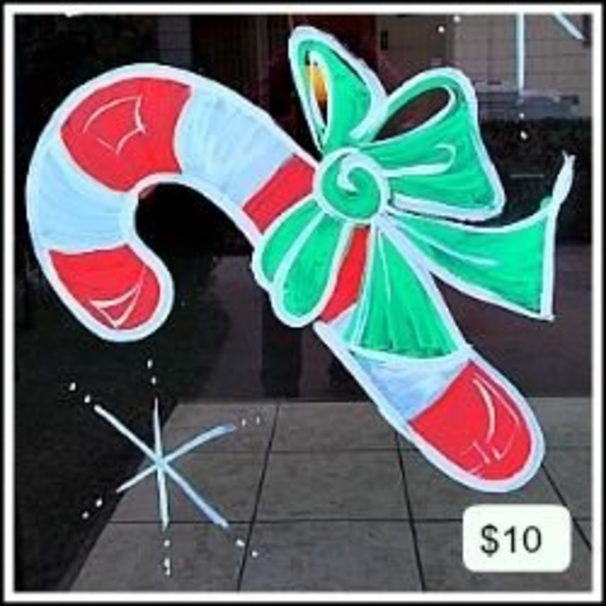 Candy Cane - Window Painting Design Pricing - Image: M Burgess