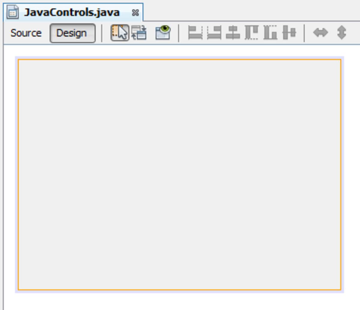 Blank Java NetBeans form