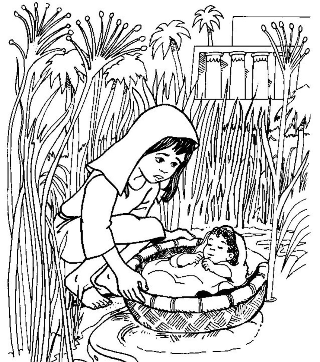 Moses printable coloring pages hubpages for Moses coloring pages