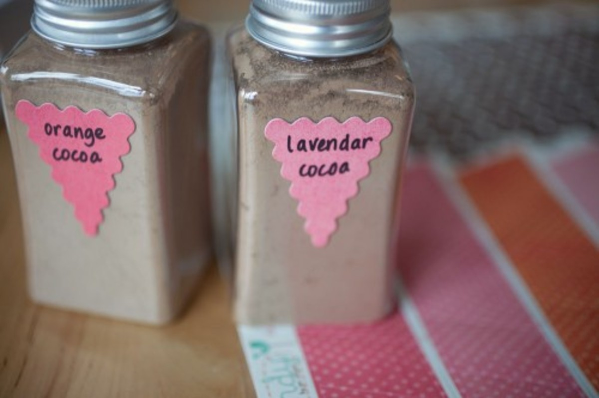 This is an adorable and easy gift package to make. I love the idea of blending two o three different flavors. Small containers can be purchased at your local craft store. This image is from elizabethannedesigns.com