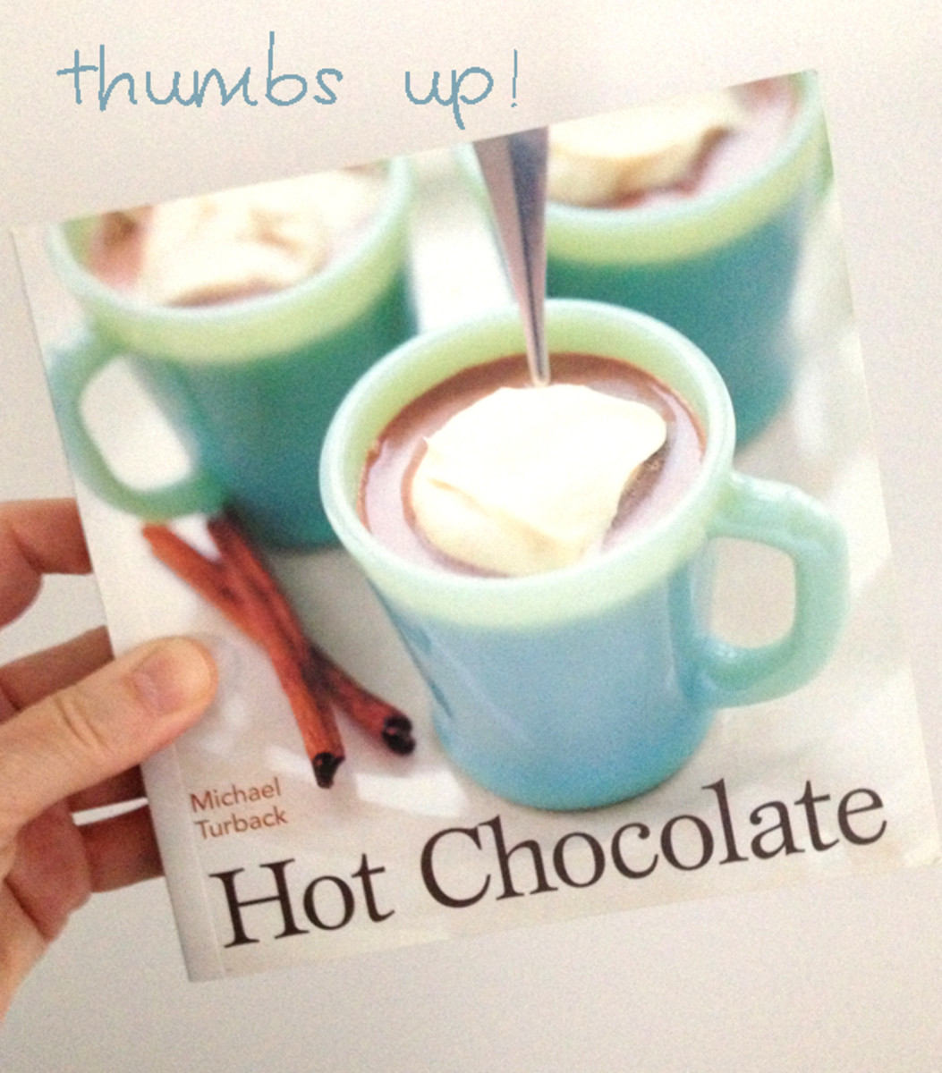 This is one of my favorite hot chocolate cookbooks. There are some very creative drinks in here and many of them could be served in fun ways. I highly recommend this book - another one of those fabulous gifts from my sister-in-law!