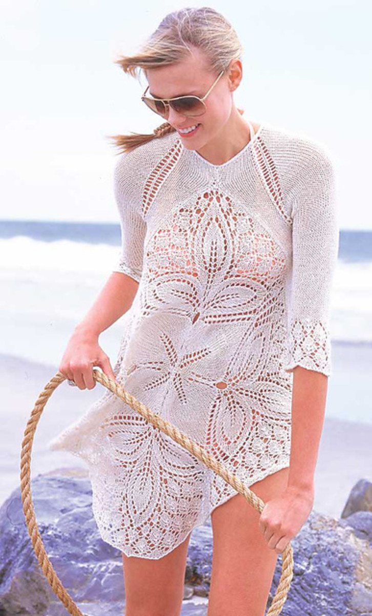 White Lace Tunic by Brooke Nico from Vogue Knitting, Spring/Summer 2010