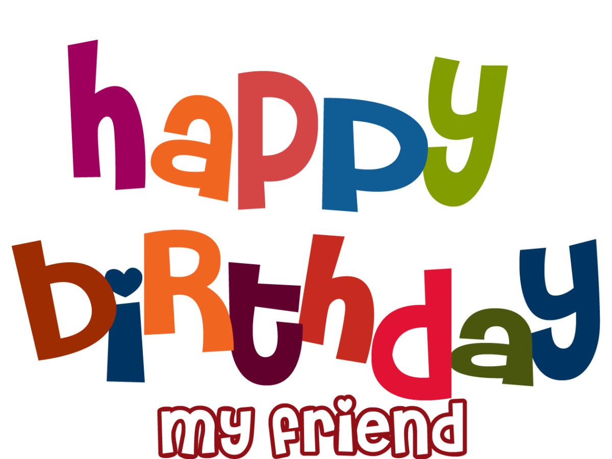 Cute Birthday Clipart for Facebook - Happy Birthday My Friend