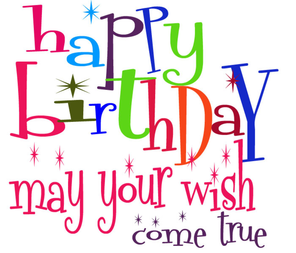 Cute Birthday Clipart for Facebook - May Your Wish Come True!