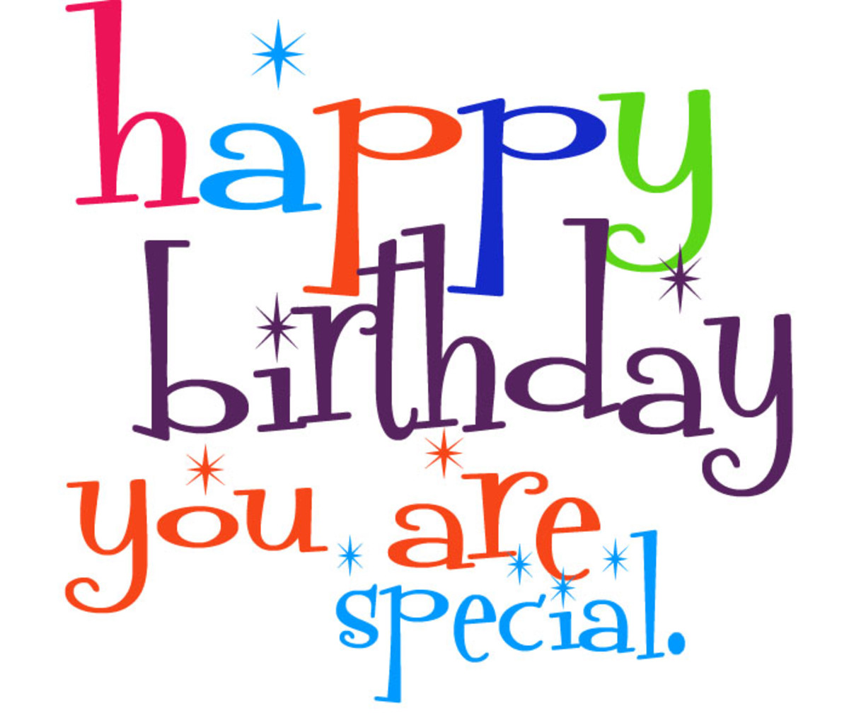 Cute Birthday Clipart for Facebook - You Are Special!