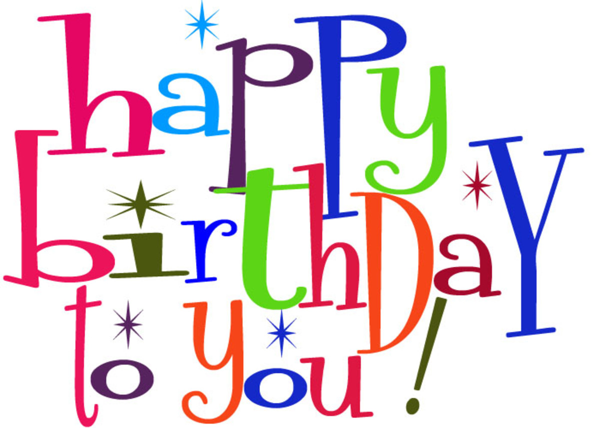 Cute Birthday Clipart for Facebook - Happy Birthday to You!