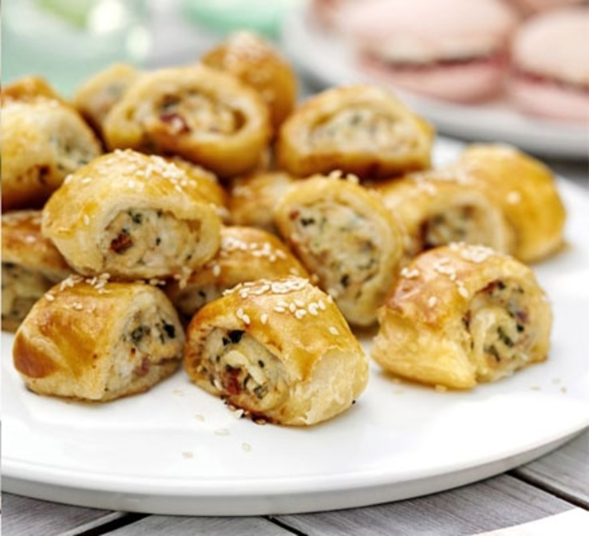 Sausage Rolls Recipe By Emmas Lewis  Source:http://www.bbcgoodfood.com/recipes/11610/summer-sausage-rolls