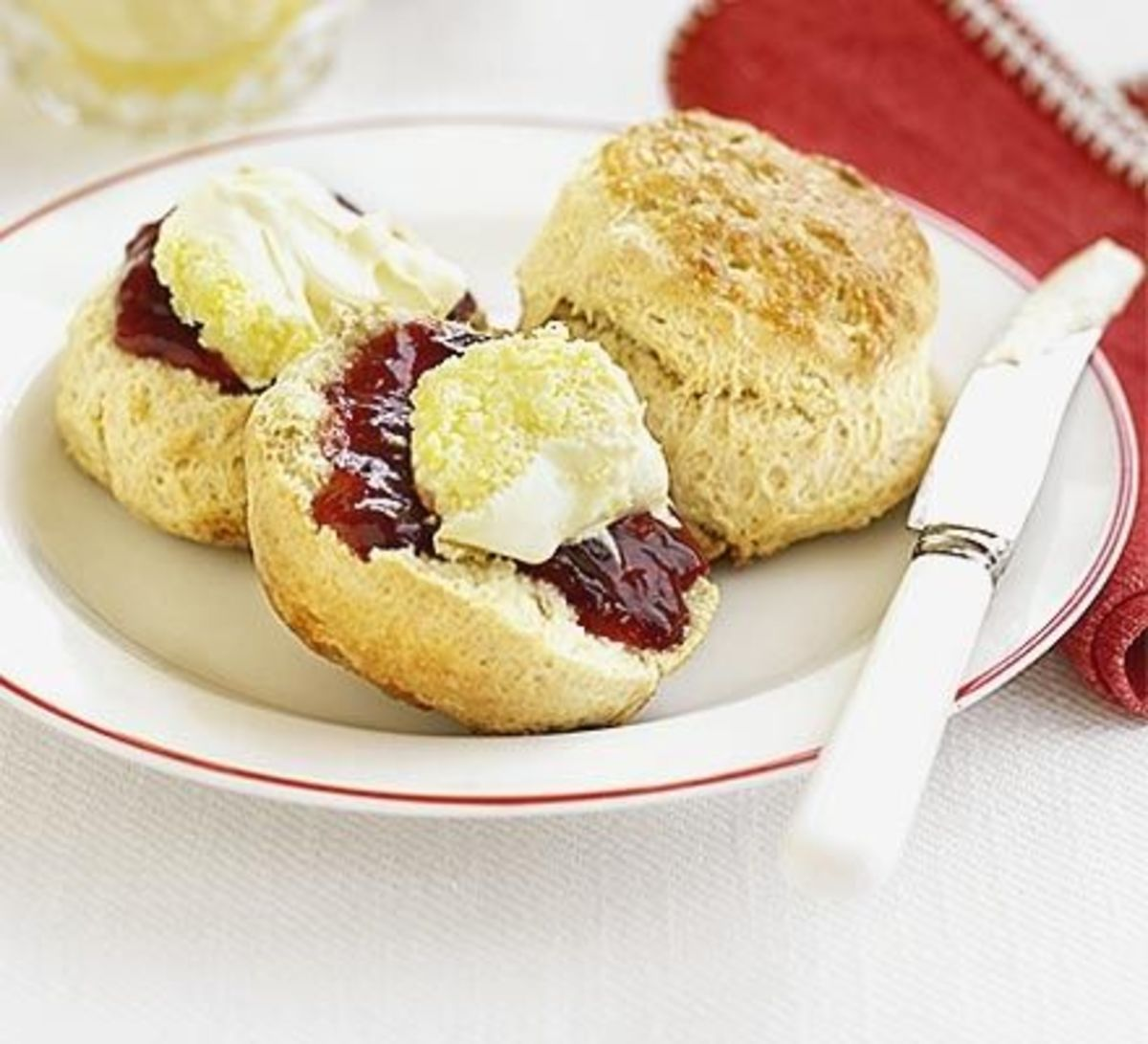 Scones Recipe By Jane Hornby  Source: http://www.bbcgoodfood.com/recipes/4622/classic-scones-with-jam-and-clotted-cream