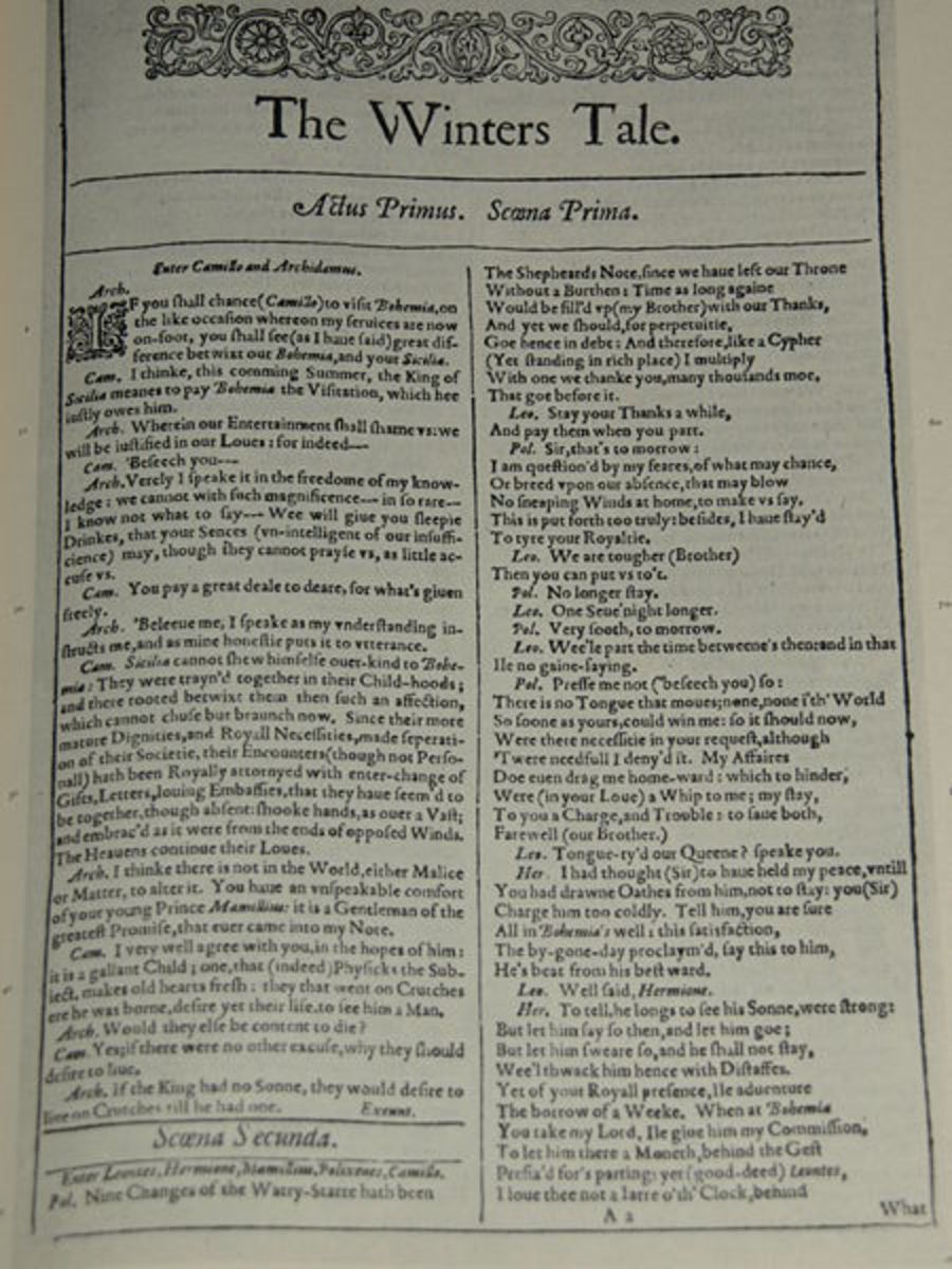 Original First Page from The Folio