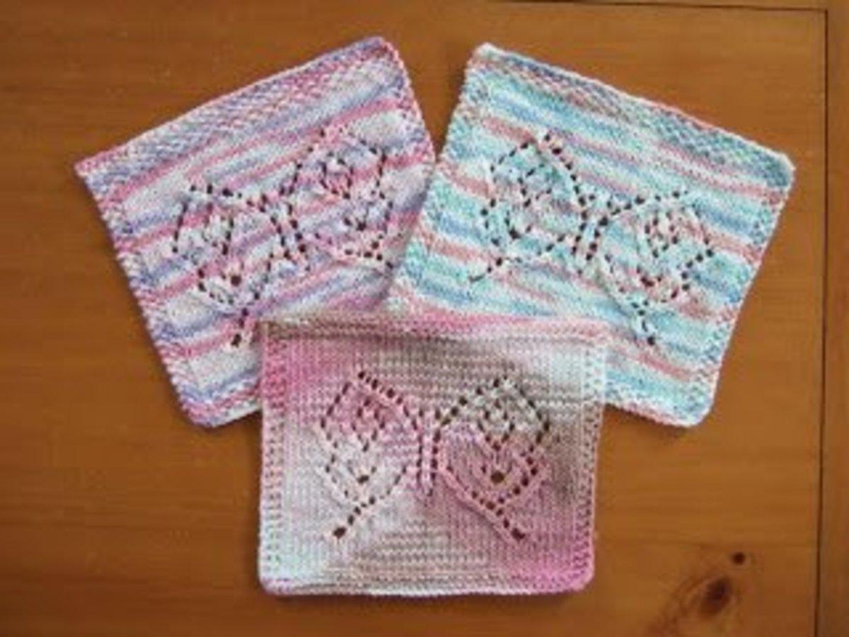 Butterfly Dishcloth Knitting Pattern : Knitting dishcloths free patterns hubpages