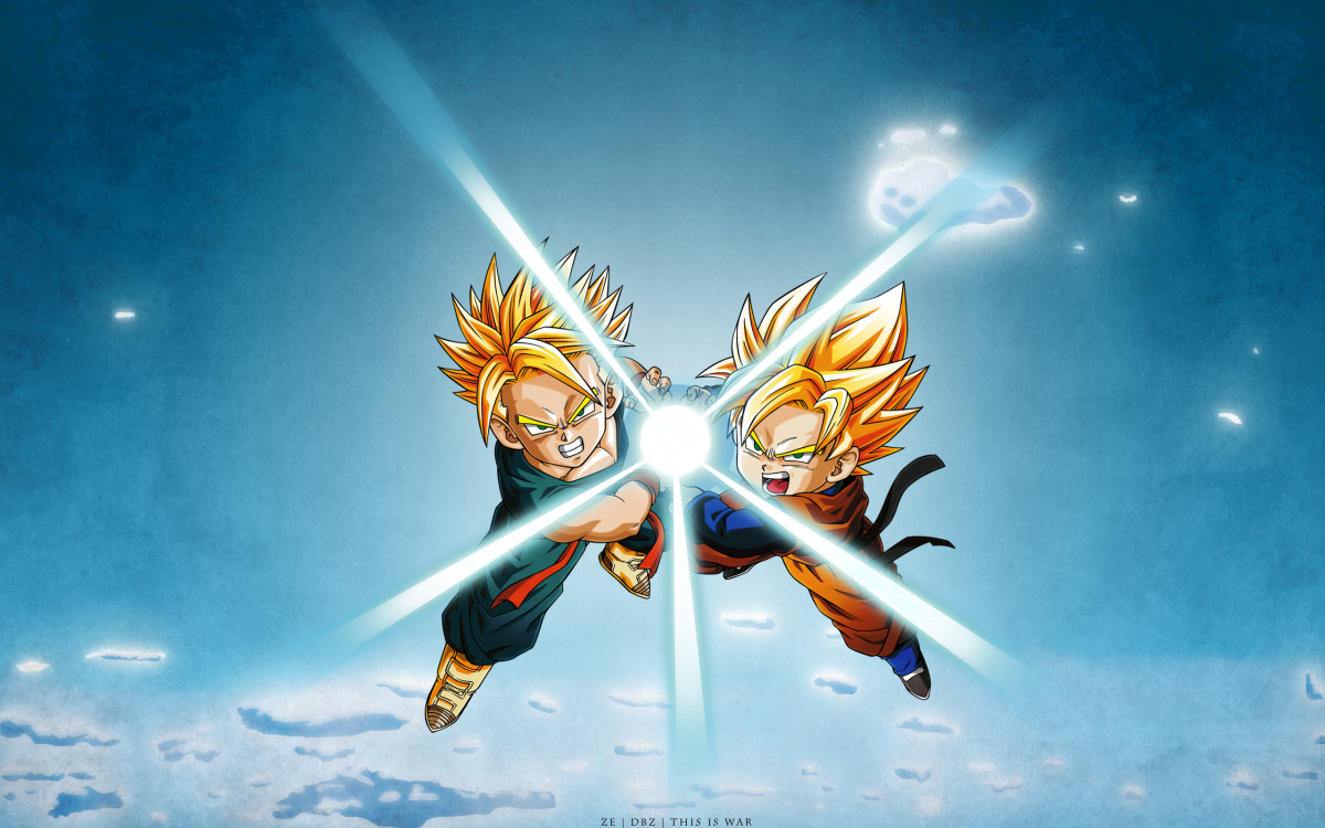 Trunks and Goten Super Saiyan