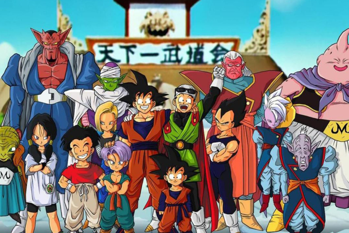 Son Goku and friends Majin Buu Saga
