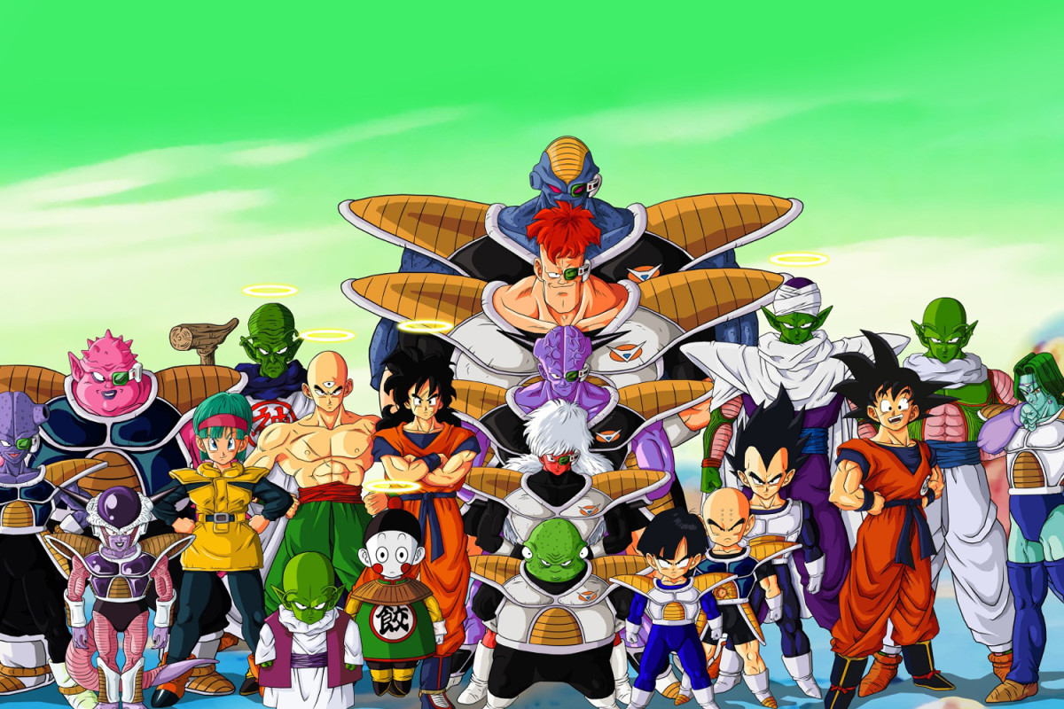 Son Goku and friends on planet Nemic Frieza Saga