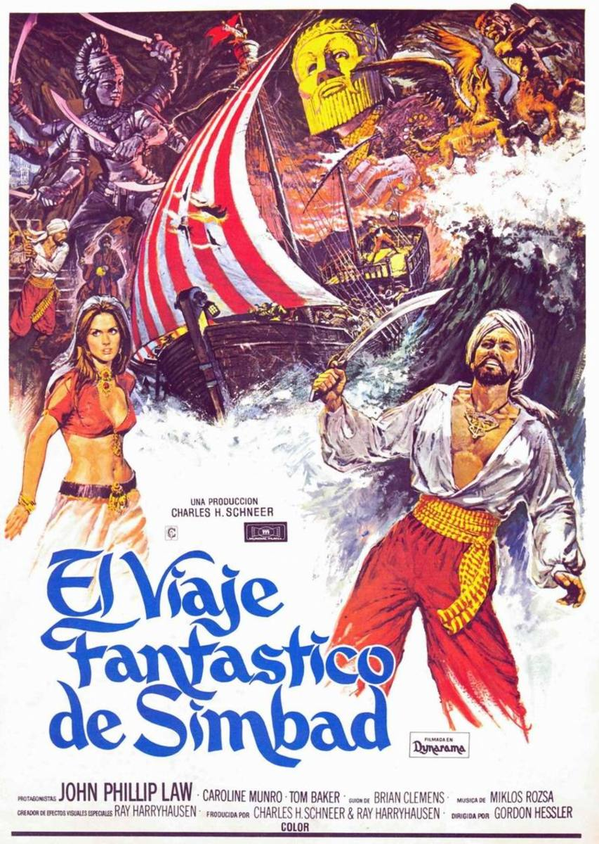 The Golden Voyage of Sinbad (1974) Spanish poster