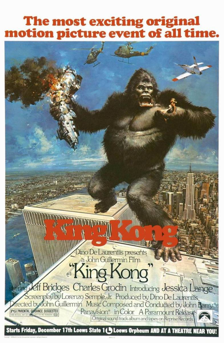 King Kong (1976) art by John Berkey