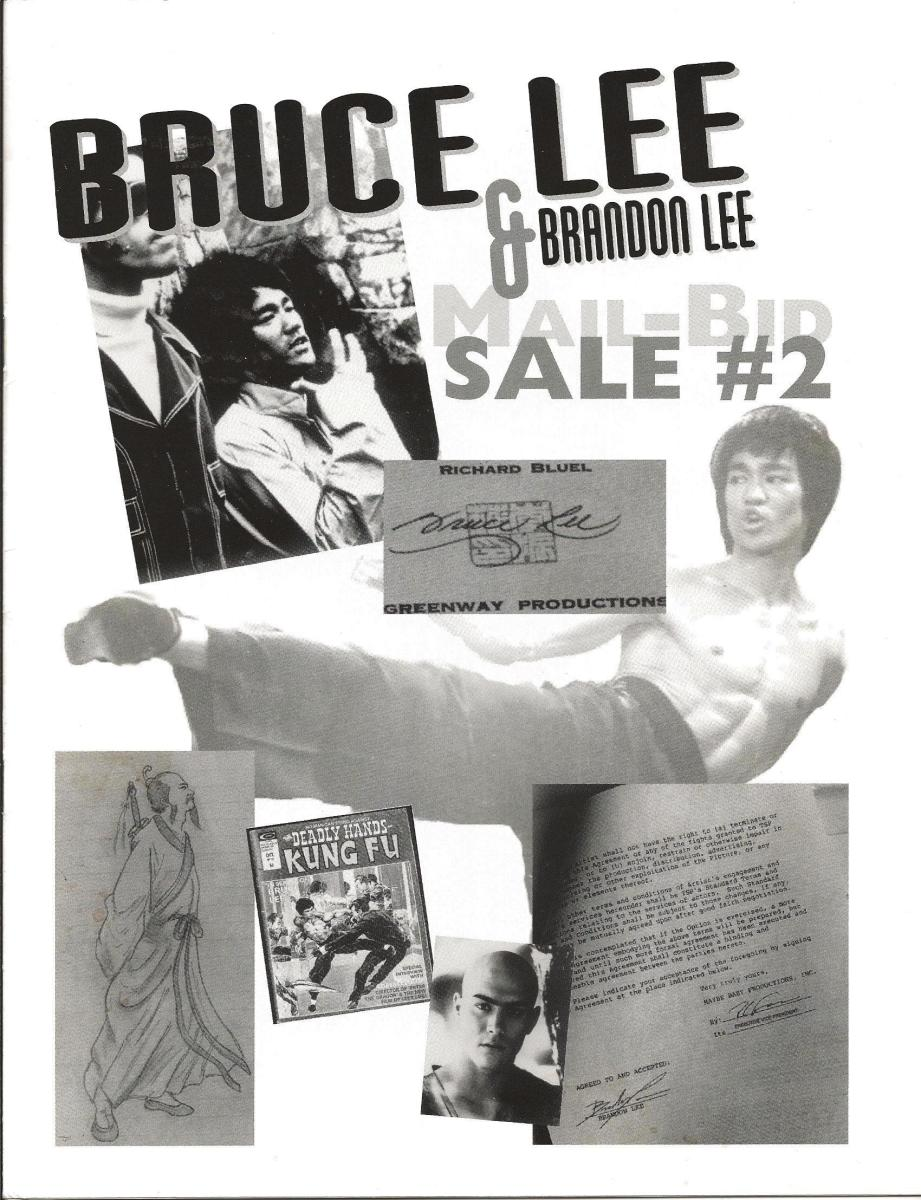 Cover of Catalog for Auction of Bruce Lee Sketches