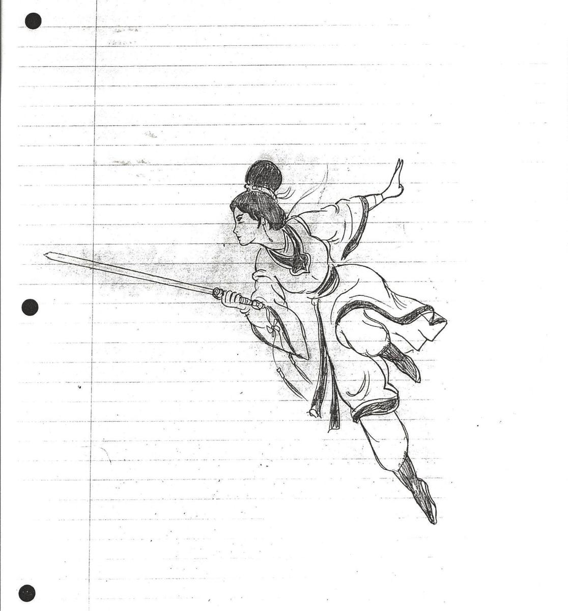 Single Figure Showing a Combat Movement by Bruce Lee