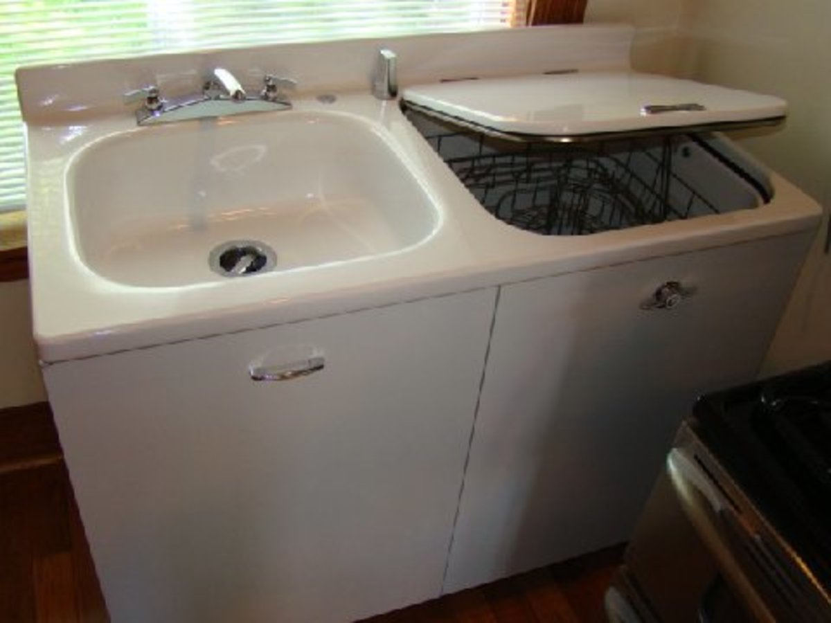 Haller's  uses his 1949 General Electric sink on a regular basis.