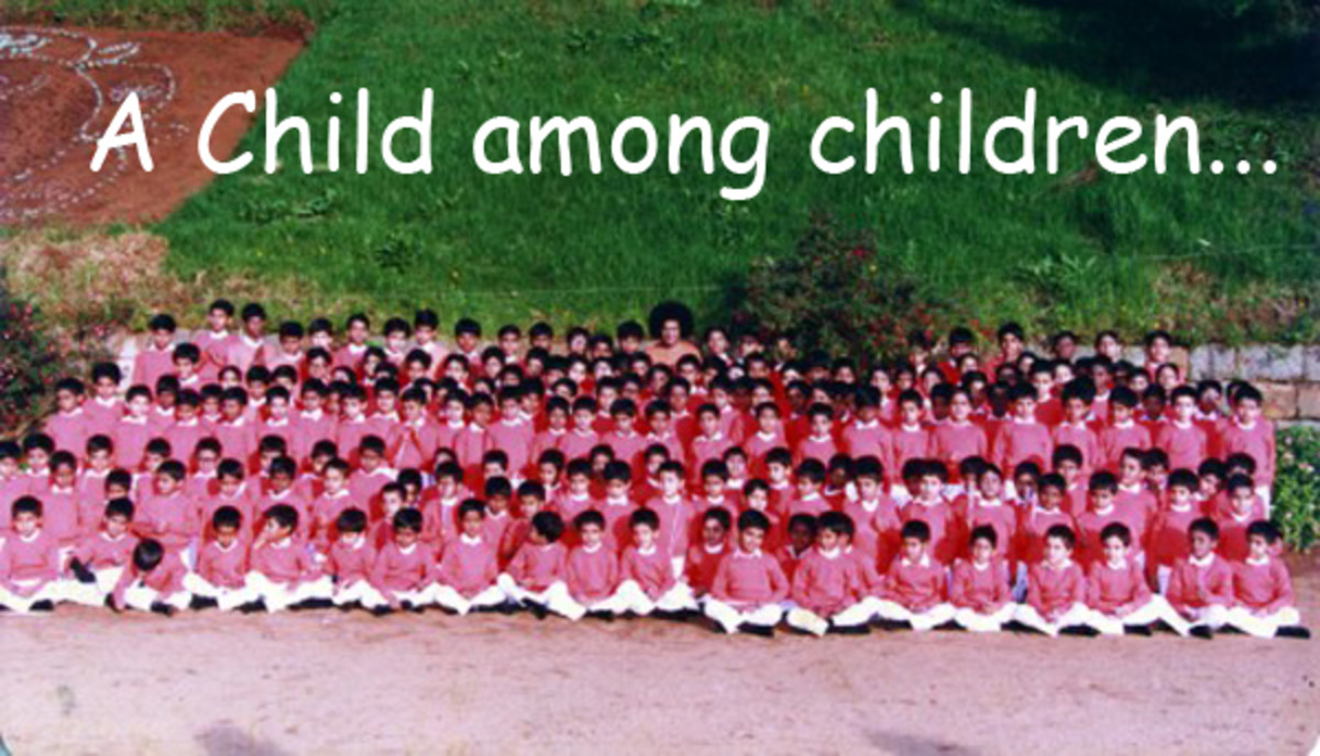 There is someone above to love me - a child's experience with Sri Sathya Sai